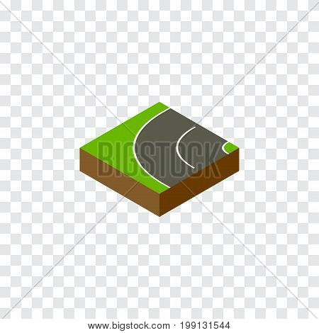 Way Vector Element Can Be Used For Asphalt, Road, Bitumen Design Concept.  Isolated Bitumen Isometric.
