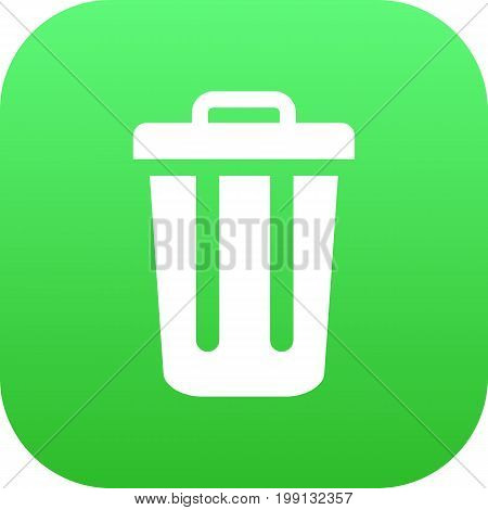 Isolated Trash Can Icon Symbol On Clean Background