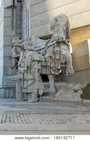 Bulgaria, Shumen , Shumen Region, Founders of the Bulgarian State Monument, Monument, Monument to 1300 Years of Bulgaria, Founders of the Bulgarian State ,  Shoumen, medieval, Ruins, capital,Bulgarian, First Bulgarian Empire, Balkan, Balkan Peninsula,  la