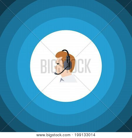 Telemarketing Vector Element Can Be Used For Telemarketing, Online, Support Design Concept.  Isolated Online Support Flat Icon.