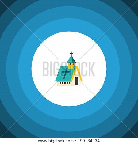 Architecture Vector Element Can Be Used For Religious, Architecture, Church Design Concept.  Isolated Religious Flat Icon.