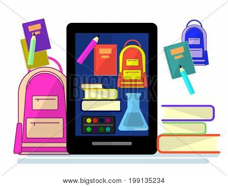 Education infographic. Flat illustration for e-learning and studying