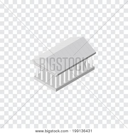 Athens Vector Element Can Be Used For Acropolis, Athens, Museum Design Concept.  Isolated Acropolis Isometric.