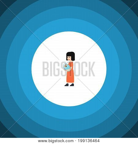 Baby Vector Element Can Be Used For Mam, Baby, Mother Design Concept.  Isolated Mam Flat Icon.