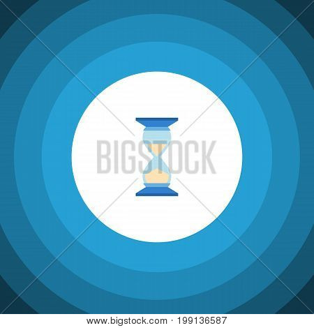 Waiting Vector Element Can Be Used For Hourglass, Sandglass, Timer Design Concept.  Isolated Hourglass Flat Icon.