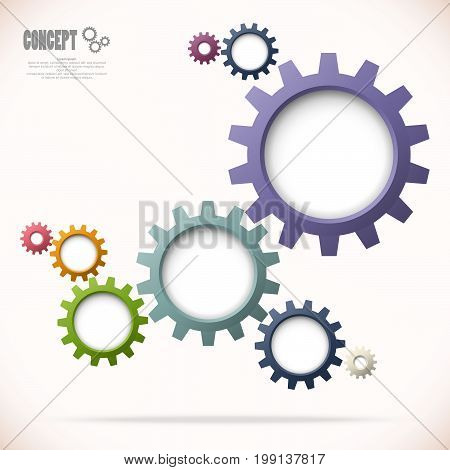 Gear Wheels Business Concept Graphic
