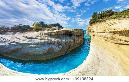 Canal d'amour Sidari region Corfu island Greece.