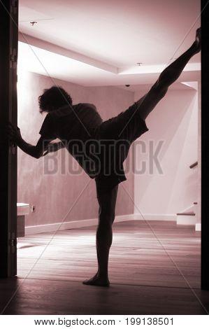 Man Yoga Stretching Splits