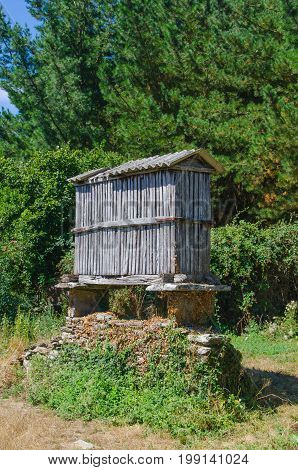 Typical Galician Granary Called Horreo