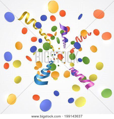 Confetti Explosion On White Background
