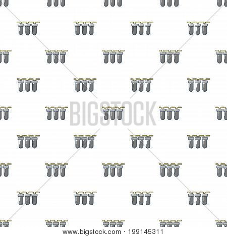 Triple water filter pattern in cartoon style. Seamless pattern vector illustration
