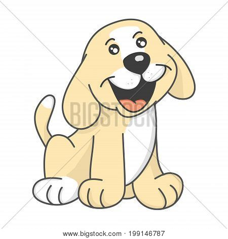 Puppy picture of baby on white background,vector illustration