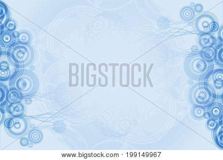 Simple Blue Circles Abstract Background. Bluish Backdrop with Circles Decoration.