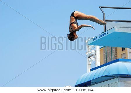 Lady Platform Diver