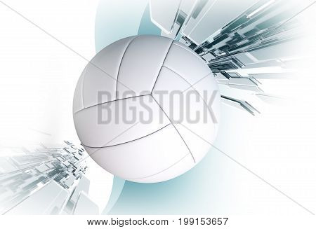 Volleyball Sport Event Concept 3D Rendered Illustration. Volleyball Ball.
