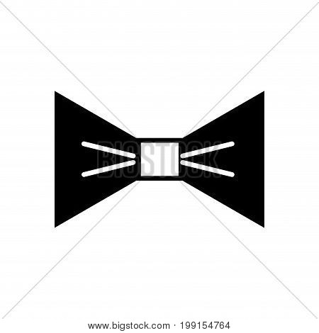 contour nice bowtie style decoration design vector illustration