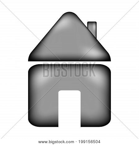 Home sign icon on white background. Vector illustration.