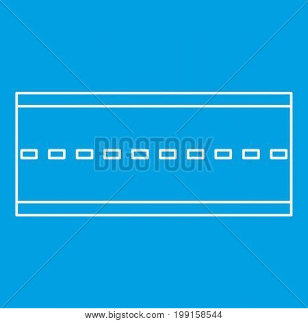 Road icon blue outline style isolated vector illustration. Thin line sign