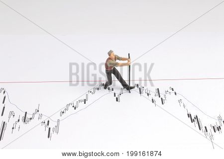 Min Worker With Pickaxe Working On A Graph