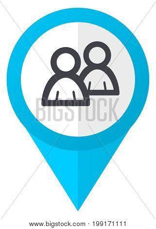 Forum blue pointer icon