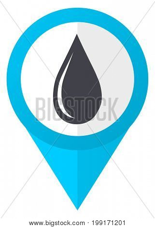 Water drop blue pointer icon