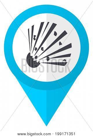 Bomb blue pointer icon