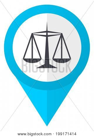 Justice blue pointer icon