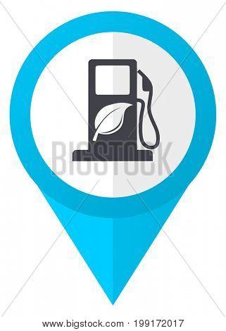 Biofuel blue pointer icon