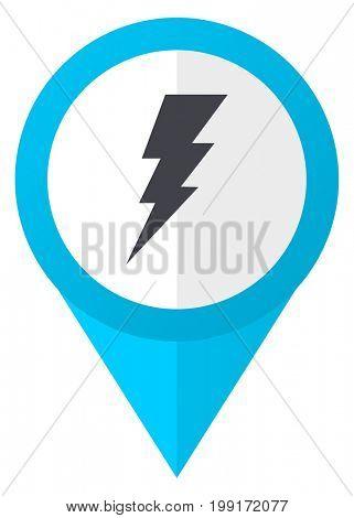 Bolt blue pointer icon