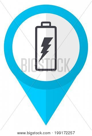 Battery blue pointer icon