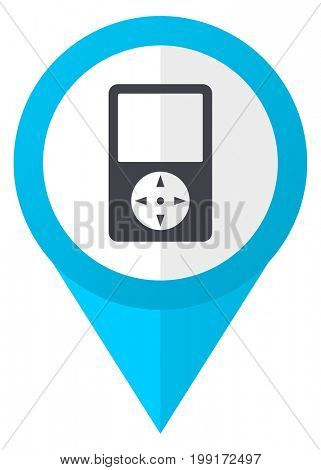 Multimedia player blue pointer icon