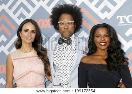 LOS ANGELES - AUG 8:  Jordana Brewster, Johnathan Fernandez, Keesha Sharp at the FOX TCA Summer 2017 Party at the Soho House on August 8, 2017 in West Hollywood, CA