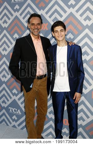 LOS ANGELES - AUG 8:  Alexander Siddig, David Mazouz at the FOX TCA Summer 2017 Party at the Soho House on August 8, 2017 in West Hollywood, CA