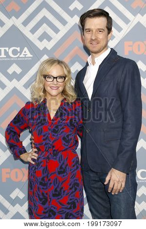 LOS ANGELES - AUG 8:  Rachael Harris, husband at the FOX TCA Summer 2017 Party at the Soho House on August 8, 2017 in West Hollywood, CA