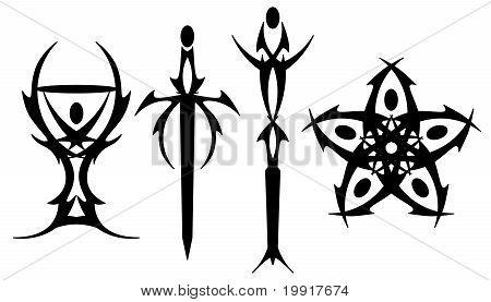 Tarot tattoo symbols