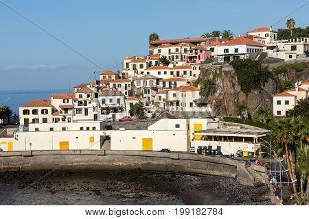 CAMARA DE LOBOS MADEIRA PORTUGAL - SEPTEMBER 5 2016: Camara de Lobos - traditional fishing village situated five kilometres from Funchal on Madeira. Portugal