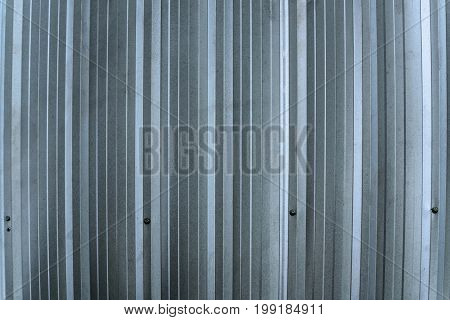 Silver Metal Sheet Wall, Aluminium Corrugate Wall.