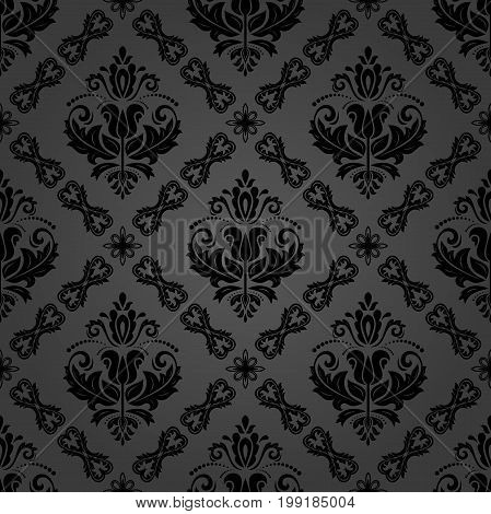Oriental classic dark pattern. Seamless abstract background with repeating elements. Orient background