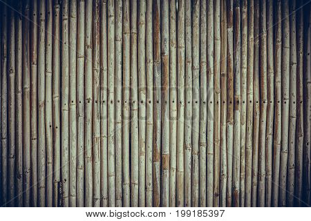 Bamboo Fence Wall Background And Texture.