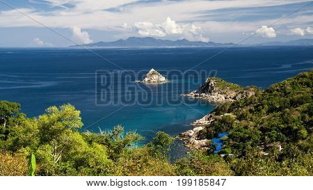 View of Shark Island and Phangan on background