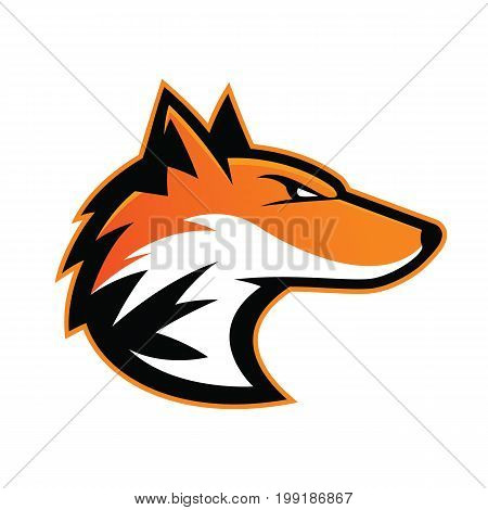 Clipart picture of a fox head cartoon mascot logo character