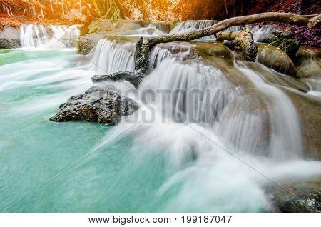 The Chet Sao Noi Waterfall Saraburi Thailand