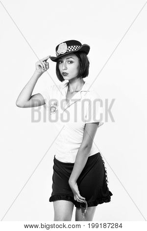 Woman In Police Uniform