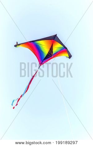 Colorful Kite Flying On Sky