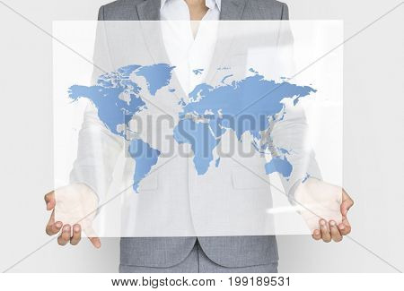 Global Business Networking Connection World Map