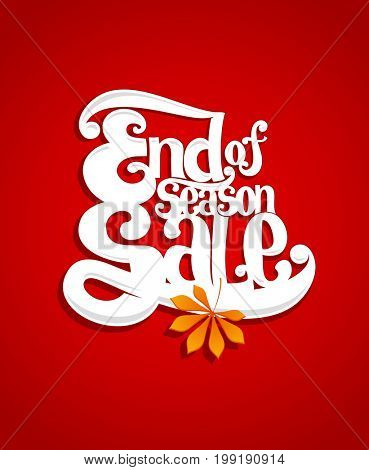 End of season sale typography illustration, raster version