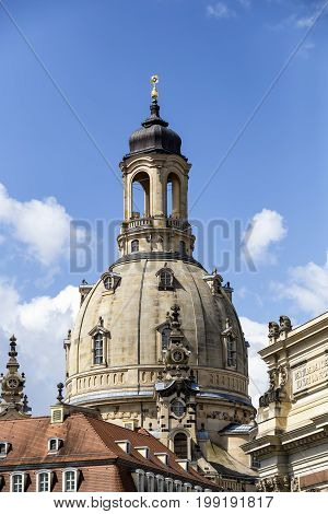 Observation Tower On The Dome Church Frauenkirche