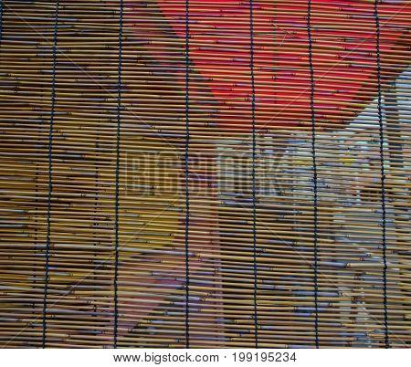 Bamboo Curtain At An Old House In Katsuura, Japan