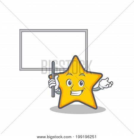 Bring board star character cartoon style vector illustration