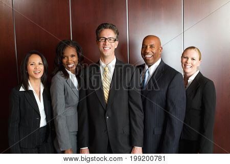 Divese group of business people isolated on white.